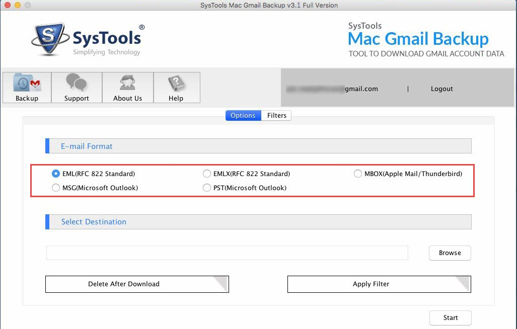 gmail backup tool backup emails to pst mbox eml file on windows