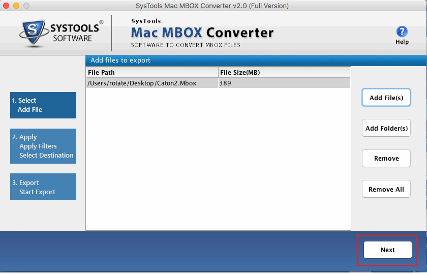 Preview MBOX Mail and Attachments