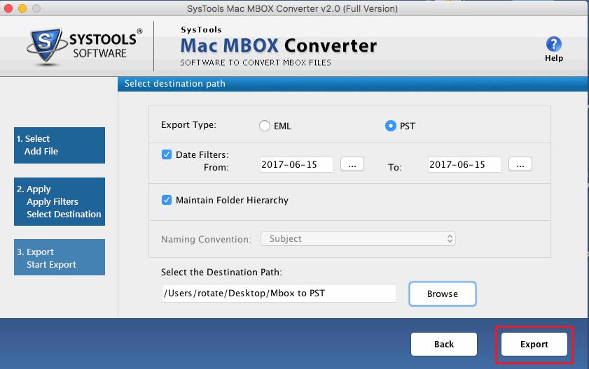 Convert Mac MBOX File to PST